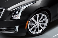 2015 Cadillac ATS Sedan Exterior 010 W- Wheel and Headlight focus