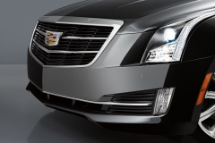 2015 Cadillac ATS Sedan Exterior 011 - front fascia grille Cadillac logo and headlight focus