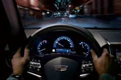 2015 Cadillac ATS Sedan Interior 002 - cockpit with steering wheel gauges and head up display focus