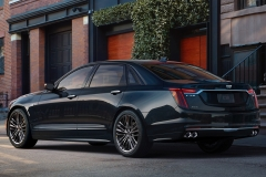 2019 Cadillac CT6 V-Sport exterior 004 rear three quarters driver zoom
