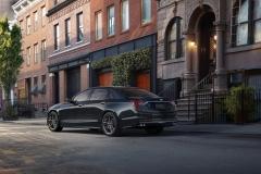 2019 Cadillac CT6 V-Sport exterior 004 rear three quarters driver