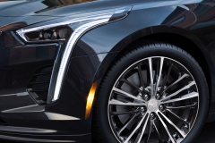 2019 Cadillac CT6 V-Sport exterior 005 headlight and front wheel focus zoom