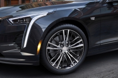 2019 Cadillac CT6 V-Sport exterior 005 headlight and front wheel focus