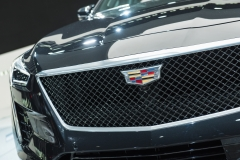 2019 Cadillac CT6 V-Sport exterior - 2018 New York Auto Show live 010 - grille and Cadillac logo