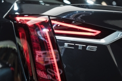 2019 Cadillac CT6 V-Sport exterior - 2018 New York Auto Show live 023 - taillamp with CT6 badge