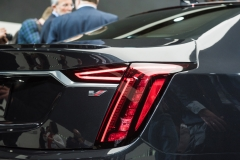 2019 Cadillac CT6 V-Sport exterior - 2018 New York Auto Show live 024 - taillamp with V-Sport badge
