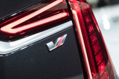 2019 Cadillac CT6 V-Sport exterior - 2018 New York Auto Show live 025 - taillamp with V-Sport badge