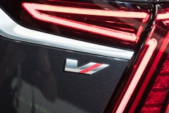 2019 Cadillac CT6 V-Sport exterior - 2018 New York Auto Show live 026 - taillamp with V-Sport badge