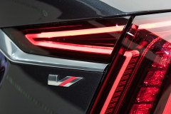 2019 Cadillac CT6 V-Sport exterior - 2018 New York Auto Show live 027 - taillamp with V-Sport badge