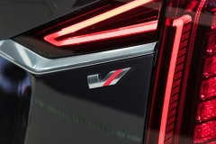 2019 Cadillac CT6 V-Sport exterior - 2018 New York Auto Show live 028 - taillamp with V-Sport badge