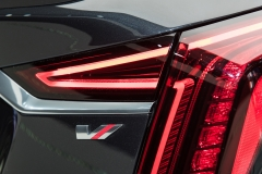 2019 Cadillac CT6 V-Sport exterior - 2018 New York Auto Show live 029 - taillamp with V-Sport badge