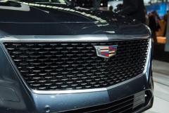 2019 Cadillac CT6 - 3.0L Twin Turbo V6 - exterior - 2018 New York Auto Show live 004 - grille with Cadillac logo