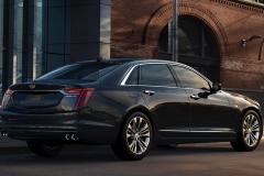 2019 Cadillac CT6 Platinum exterior 002 rear three quarters passenger zoom