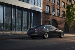 2019 Cadillac CT6 Platinum exterior 002 rear three quarters passenger