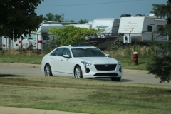2019 Cadillac CT6 Premium Luxury exterior in Crystal White Tricoat G1W - July 2018 002