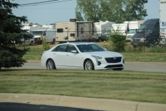 2019 Cadillac CT6 Premium Luxury exterior in Crystal White Tricoat G1W - July 2018 003