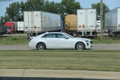 2019 Cadillac CT6 Premium Luxury exterior in Crystal White Tricoat G1W - July 2018 005