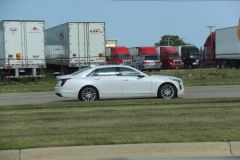 2019 Cadillac CT6 Premium Luxury exterior in Crystal White Tricoat G1W - July 2018 007