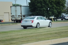 2019 Cadillac CT6 Premium Luxury exterior in Crystal White Tricoat G1W - July 2018 010