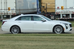 2019 Cadillac CT6 Premium Luxury exterior in Crystal White Tricoat G1W - July 2018 - zoom 002