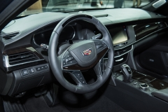 2019 Cadillac CT6 - interior - 2018 New York Auto Show live 003 - cockpit and steering wheel