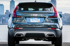 2019 Cadillac XT4 Premium Luxury - Exterior - Seattle Media Drive - September 2018 041 - rear end with Cadillac logo
