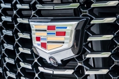 2019 Cadillac XT4 Premium Luxury - Exterior - Seattle Media Drive - September 2018 047 - grille with Cadillac logo