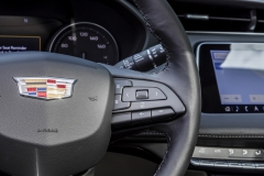 2019 Cadillac XT4 Premium Luxury - Interior - Seattle Media Drive - September 2018 007 - steering wheel control buttons