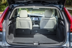 2019 Cadillac XT4 Premium Luxury - Interior - Seattle Media Drive - September 2018 011 - trunk with one seat folded