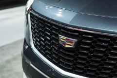 2019 Cadillac XT4 Premium Luxury exterior - 2018 New York Auto Show live 008 - grille and Cadillac logo