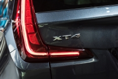 2019 Cadillac XT4 Premium Luxury exterior - 2018 New York Auto Show live 011 - taillight and XT4 badge