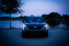 2019-Cadillac-XT4-Sport-Exterior-Dusk-001-front-end-with-accessory-lights-CS-Garage
