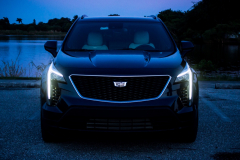 2019-Cadillac-XT4-Sport-Exterior-Dusk-004-front-end-with-accessory-lights-CS-Garage
