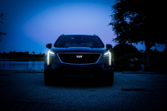 2019-Cadillac-XT4-Sport-Exterior-Dusk-005-front-end-with-accessory-lights-CS-Garage