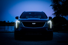 2019-Cadillac-XT4-Sport-Exterior-Dusk-006-front-end-with-accessory-lights-CS-Garage