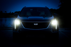2019-Cadillac-XT4-Sport-Exterior-Dusk-009-front-end-with-full-foward-lights-CS-Garage