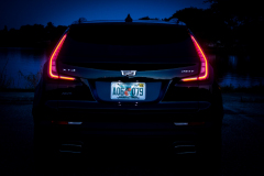 2019-Cadillac-XT4-Sport-Exterior-Dusk-014-rear-end-with-tail-lights-CS-Garage