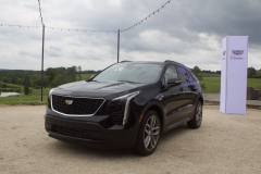 2019-Cadillac-XT4-Sport-Exterior-in-Stellar-Black-Metallic-at-Cadillac-Event-002-front-three-quarters