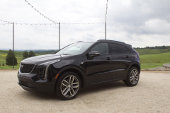 2019-Cadillac-XT4-Sport-Exterior-in-Stellar-Black-Metallic-at-Cadillac-Event-003-front-three-quarters