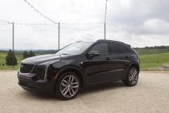 2019-Cadillac-XT4-Sport-Exterior-in-Stellar-Black-Metallic-at-Cadillac-Event-003-front-three-quarters