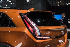 2019 Cadillac XT4 Sport exterior - 2018 New York Auto Show live 013 - top half of tailgate with Cadillac logo