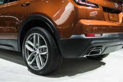 2019 Cadillac XT4 Sport exterior - 2018 New York Auto Show live 014 - rear section with wheel