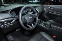 2019 Cadillac XT4 Sport interior - 2018 New York Auto Show live 002 - steering wheel