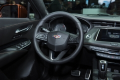 2019 Cadillac XT4 Sport interior - 2018 New York Auto Show live 004 - steering wheel