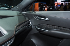 2019 Cadillac XT4 Sport interior - 2018 New York Auto Show live 014 - passenger door and AC vent
