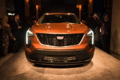 2019 Cadillac XT4 exterior live reveal 010 front end and Cadillac logo