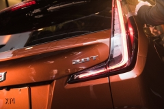 2019 Cadillac XT4 exterior live reveal 024 2.0T badge and taillight