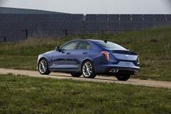 2020 Cadillac CT4-V Exterior 003 rear three quarters
