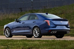 2020 Cadillac CT4-V Exterior 004 rear three quarters