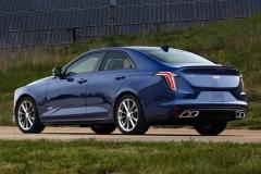 2020 Cadillac CT4-V Exterior 004 rear three quarters